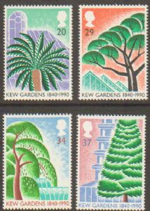 SG1502-1505 1990 Kew Gardens Stamp Set